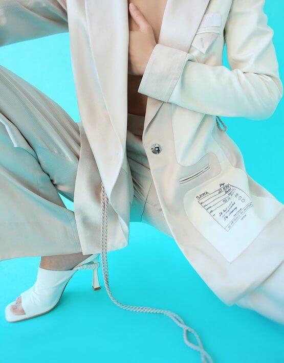 Костюм в пижамном стиле SAYYA_SS1030, фото 6 - в интеренет магазине KAPSULA