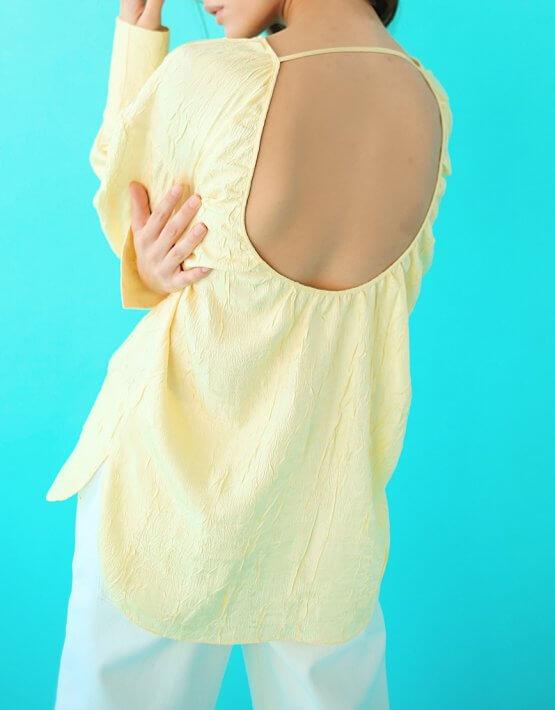 Блуза с открытой спиной SAYYA_SS1035-2, фото 5 - в интеренет магазине KAPSULA
