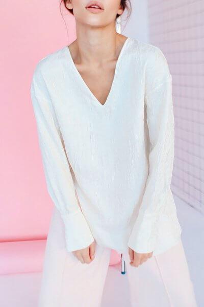 Блуза с открытой спиной SAYYA_SS1035-2, фото 1 - в интеренет магазине KAPSULA