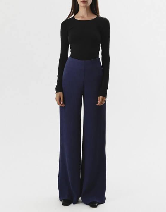 Широкие брюки на высокой посадке SHKO_19004004, фото 5 - в интеренет магазине KAPSULA