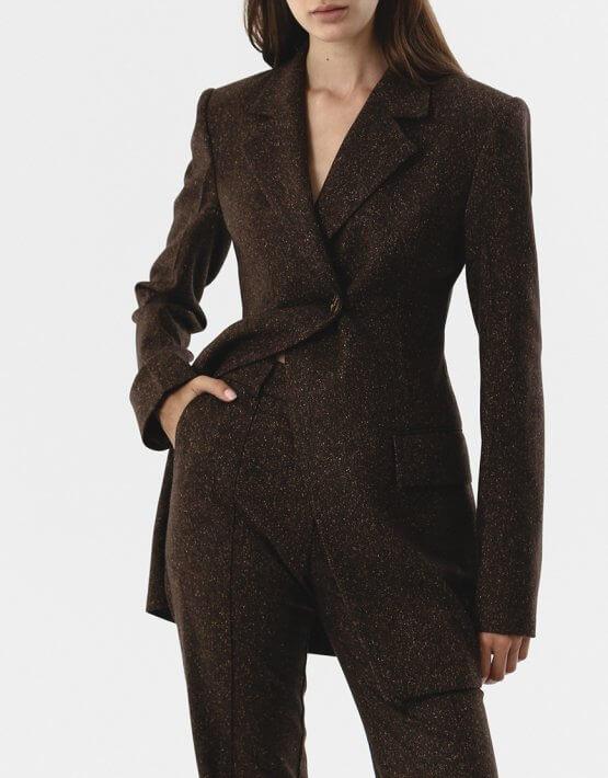 Прямые брюки из шерсти SHKO_20017001, фото 5 - в интеренет магазине KAPSULA