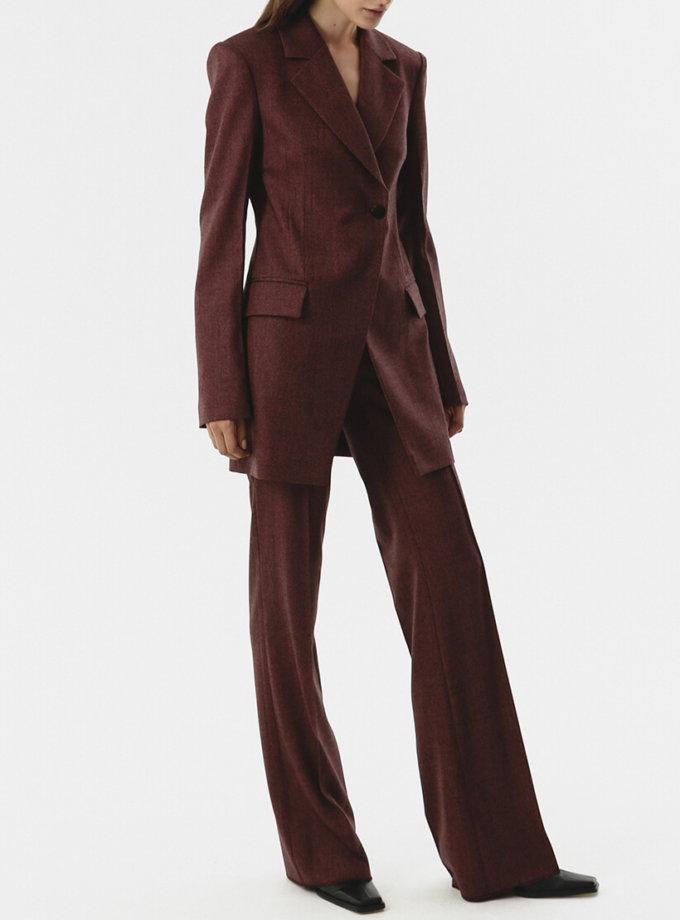 Прямые брюки из шерсти SHKO_20017003, фото 1 - в интеренет магазине KAPSULA