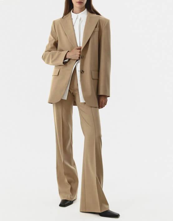 Прямые брюки из шерсти SHKO_20017004, фото 4 - в интеренет магазине KAPSULA