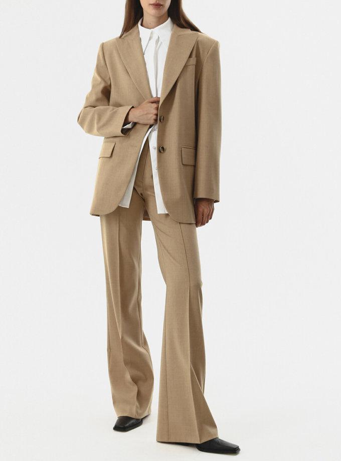 Прямые брюки из шерсти SHKO_20017004, фото 1 - в интеренет магазине KAPSULA