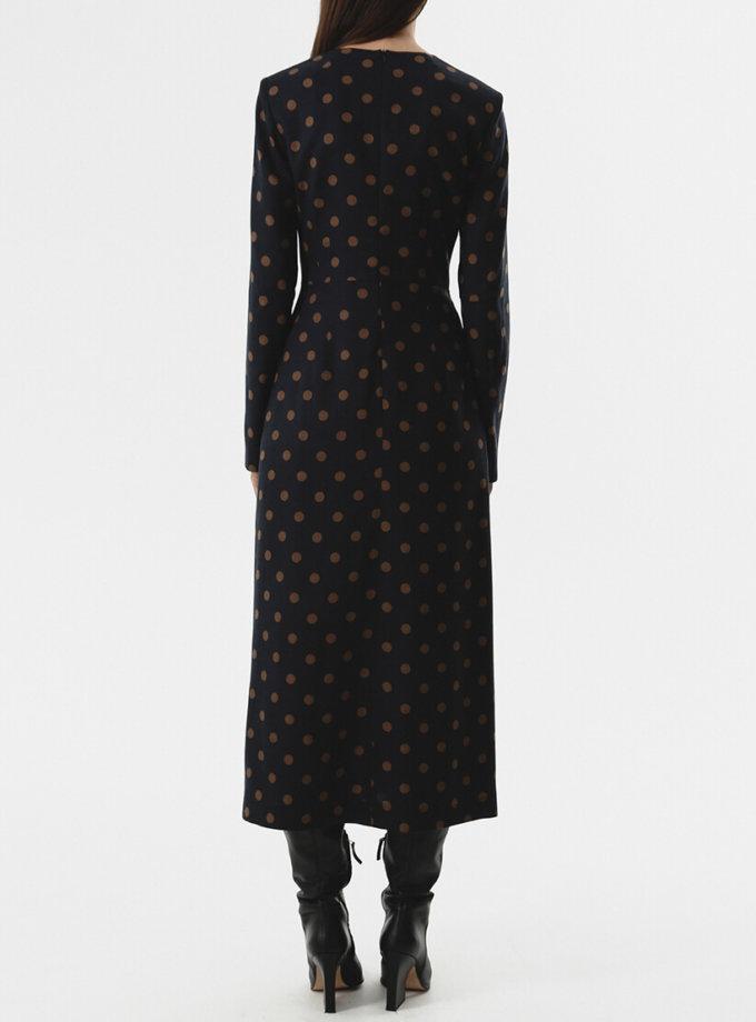 Платье с тесьмами на талии SHKO_20018001, фото 1 - в интернет магазине KAPSULA