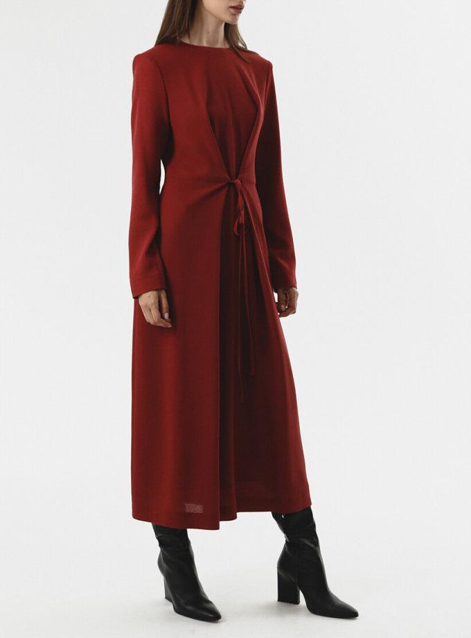 Платье с тесьмами на талии SHKO_20018002, фото 1 - в интернет магазине KAPSULA