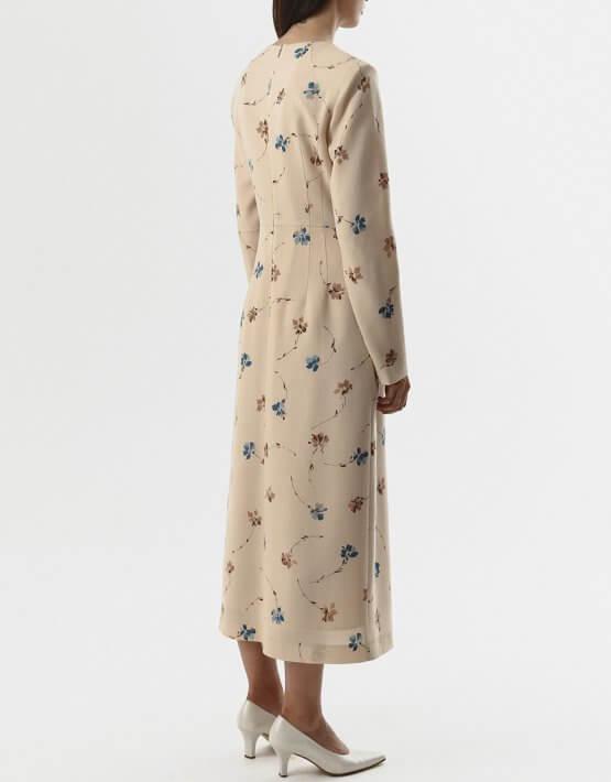 Платье из шерсти с тесьмами SHKO_20018003, фото 4 - в интеренет магазине KAPSULA