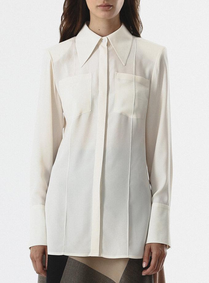Блуза с карманами SHKO_20019002, фото 1 - в интернет магазине KAPSULA