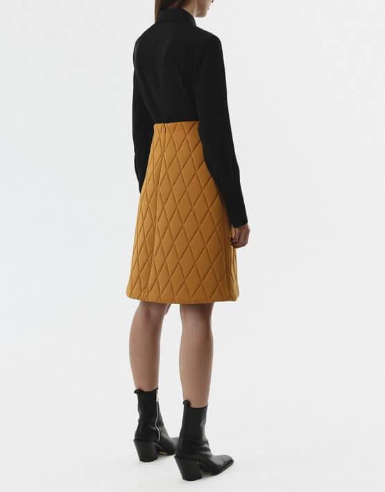 Стёганая юбка-трапеция SHKO_20020001, фото 4 - в интеренет магазине KAPSULA