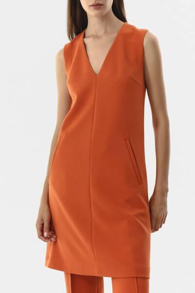 Платье на подкладе с V-вырезом SHKO_20021001, фото 1 - в интеренет магазине KAPSULA
