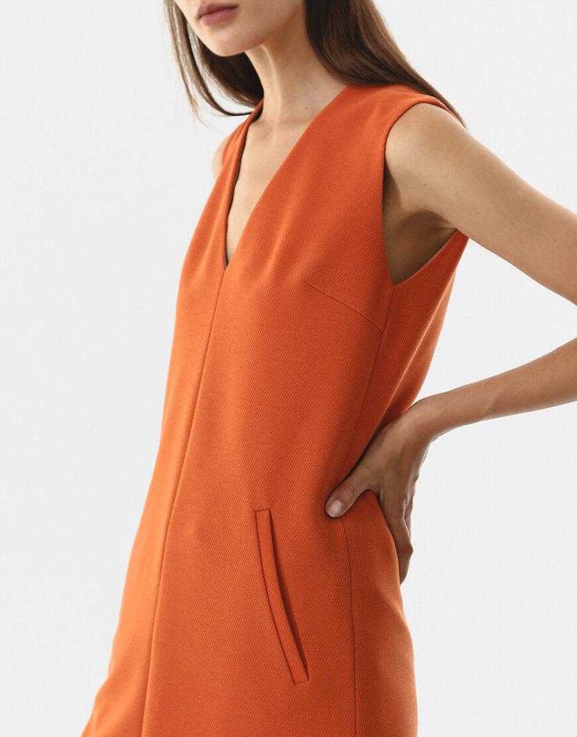 Платье на подкладе с V-вырезом SHKO_20021001, фото 1 - в интернет магазине KAPSULA