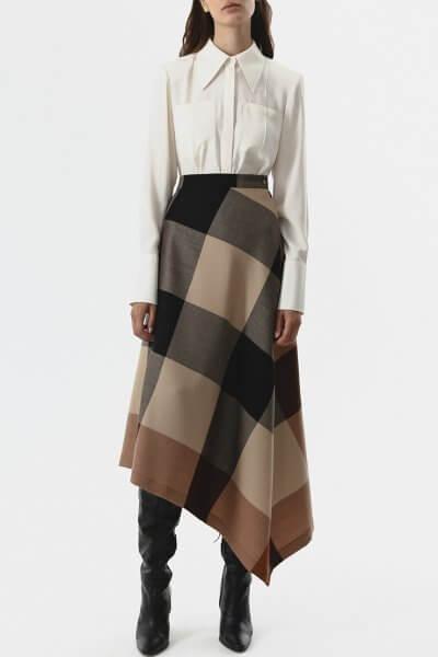 Асимметричная юбка из шерсти SHKO_20022001, фото 1 - в интеренет магазине KAPSULA