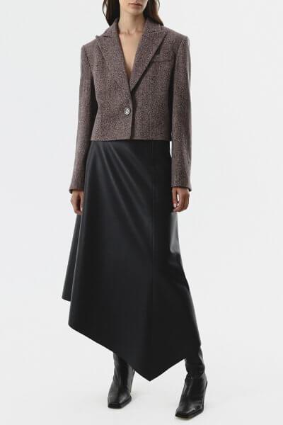 Асимметричная юбка из эко-кожи SHKO_20022002, фото 7 - в интеренет магазине KAPSULA