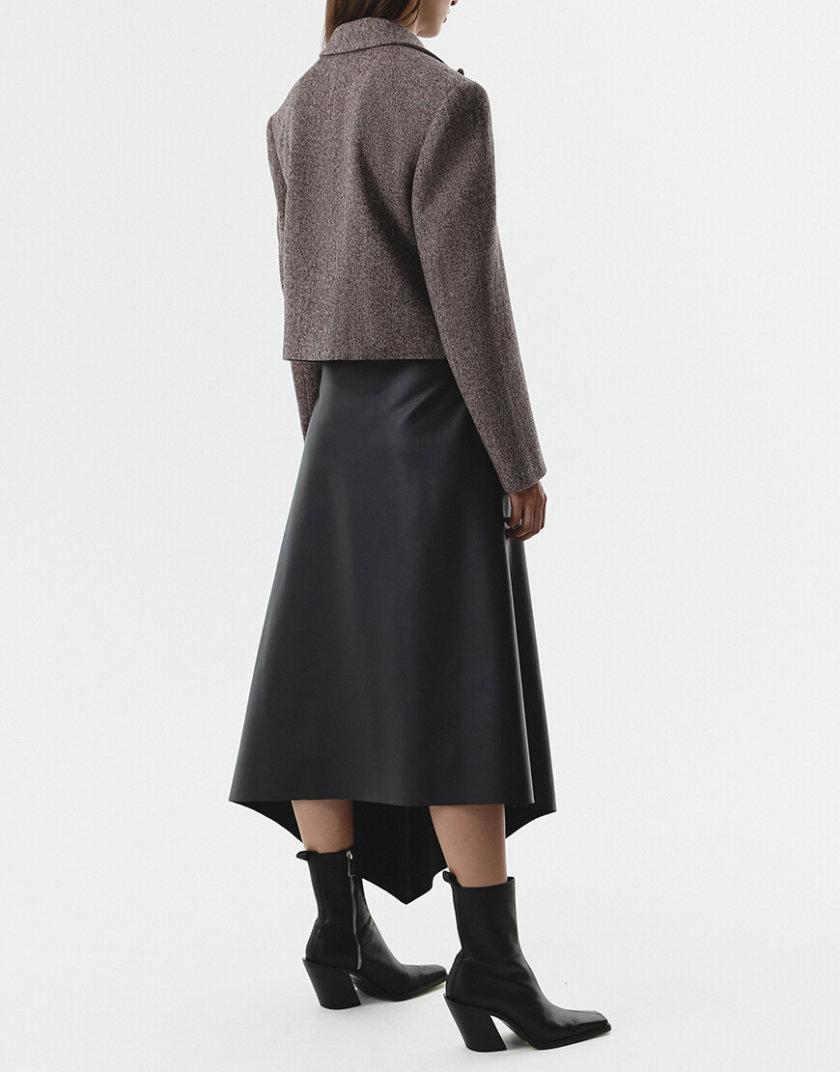 Асимметричная юбка из эко-кожи SHKO_20022002, фото 1 - в интернет магазине KAPSULA