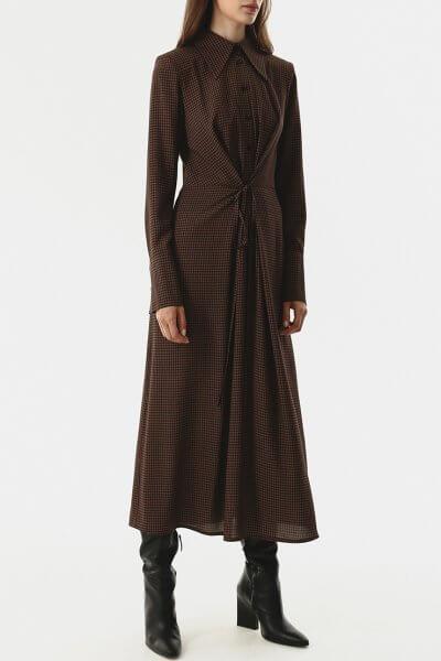 Платье-рубашка с тесьмами на талии SHKO_20024001, фото 1 - в интеренет магазине KAPSULA