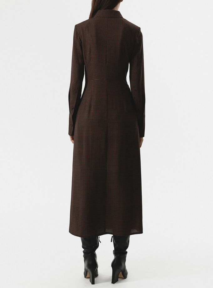 Платье-рубашка с тесьмами на талии SHKO_20024001, фото 1 - в интернет магазине KAPSULA