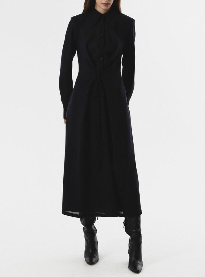 Платье-рубашка с тесьмами на талии SHKO_20024003, фото 1 - в интернет магазине KAPSULA