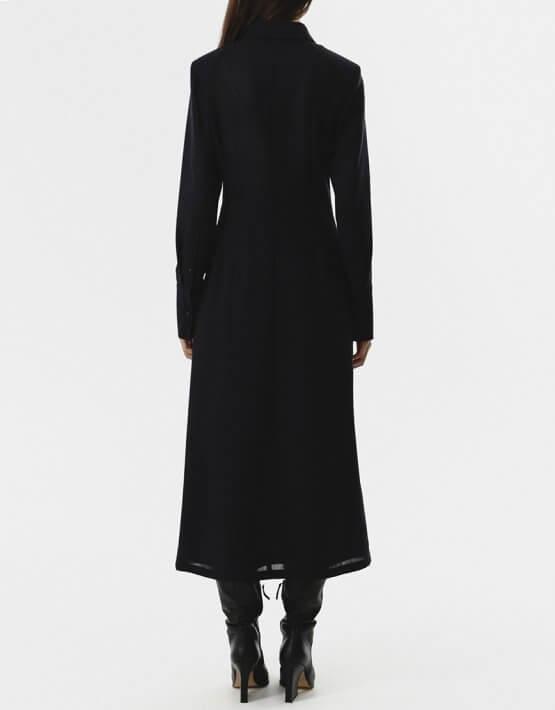 Платье-рубашка с тесьмами на талии SHKO_20024003, фото 5 - в интеренет магазине KAPSULA