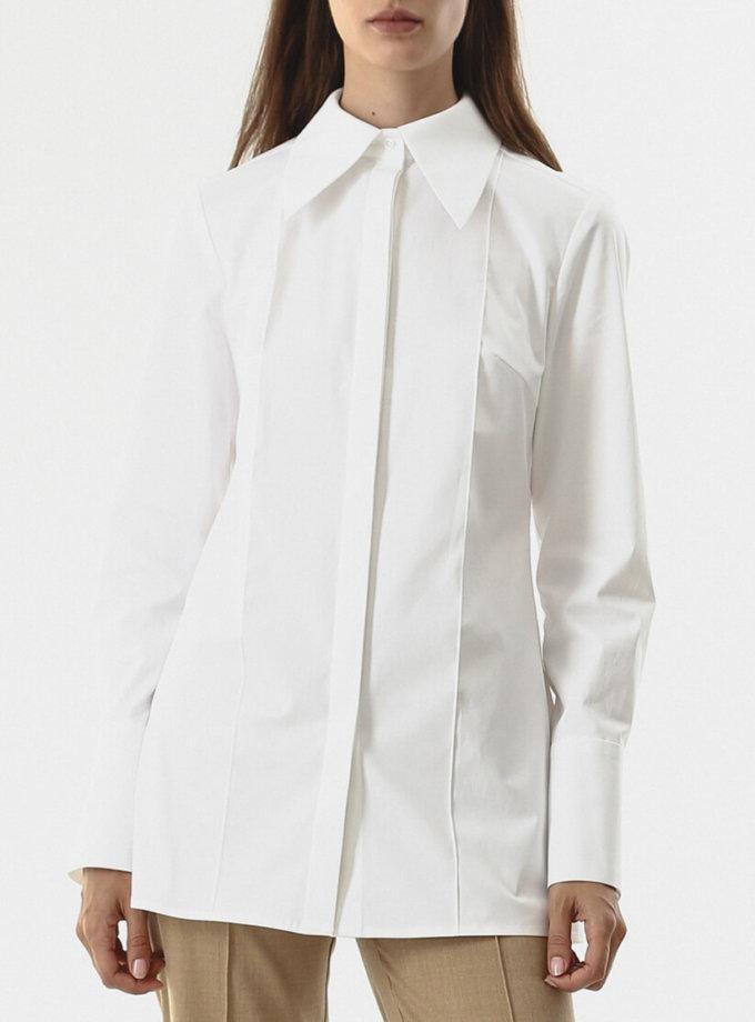 Рубашка из плотного хлопка SHKO_20026001, фото 1 - в интернет магазине KAPSULA