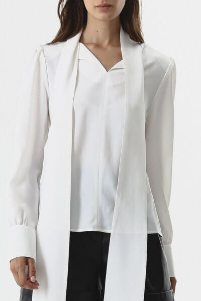 Блуза с шарфом SHKO_20028001, фото 1 - в интеренет магазине KAPSULA
