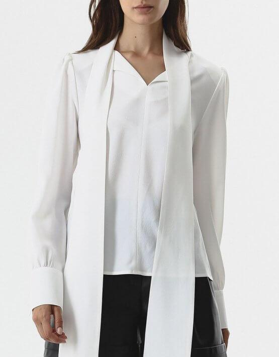 Блуза с шарфом SHKO_20028001, фото 5 - в интеренет магазине KAPSULA