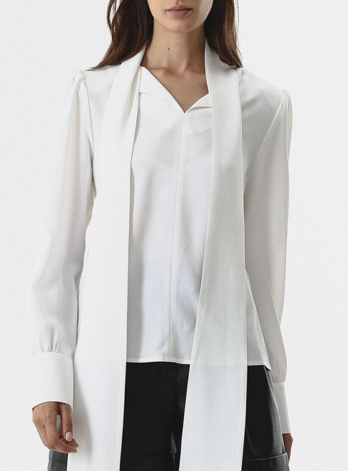 Блуза с шарфом SHKO_20028001, фото 1 - в интернет магазине KAPSULA