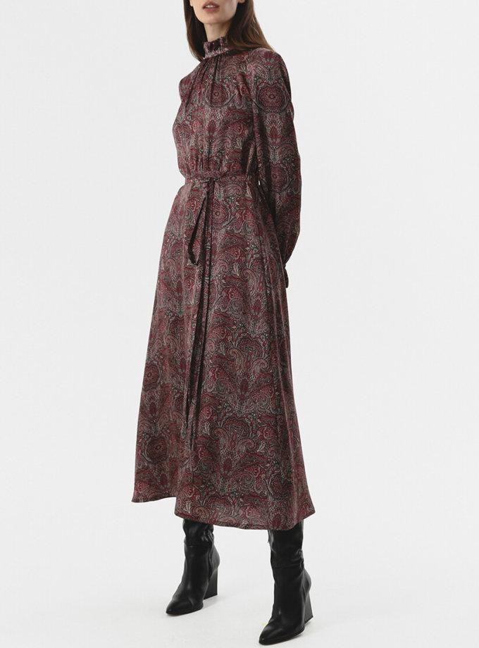 Платье миди со сборками SHKO_20029001, фото 1 - в интернет магазине KAPSULA