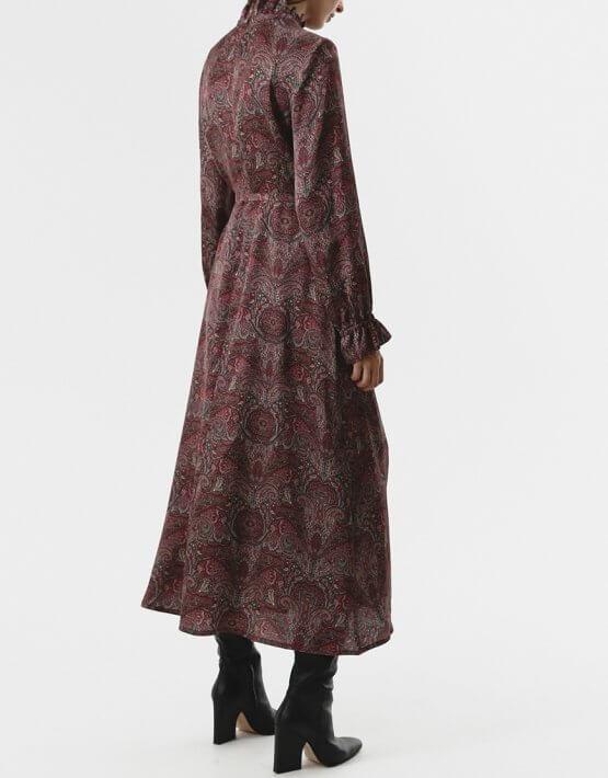 Платье миди со сборками SHKO_20029001, фото 5 - в интеренет магазине KAPSULA