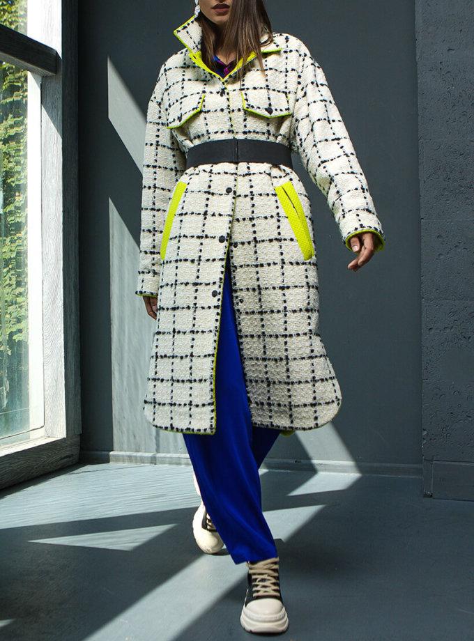 Пальто из шерсти в клетку TBC_20076w_0225, фото 1 - в интернет магазине KAPSULA