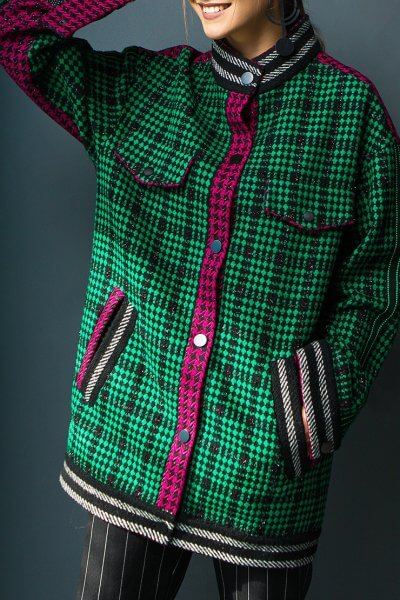Шерстяной бомбер-пальто TBC_20077w_2509, фото 1 - в интеренет магазине KAPSULA