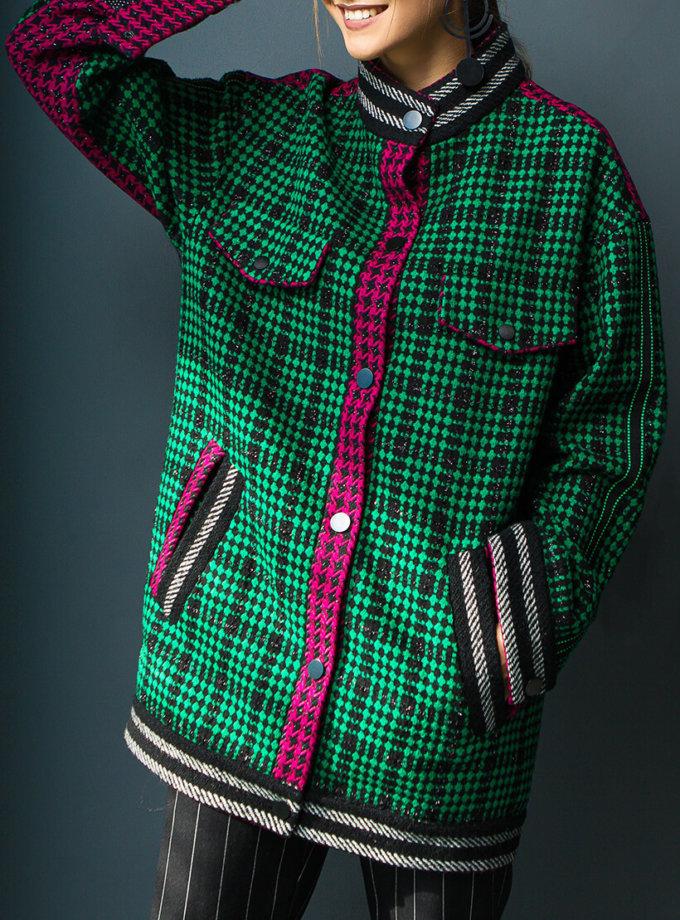Шерстяной бомбер-пальто TBC_20077w_2509, фото 1 - в интернет магазине KAPSULA