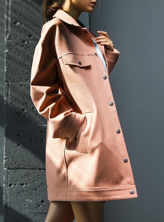 Укорочённое пальто из шерсти TBC_20078w_017, фото 1 - в интеренет магазине KAPSULA