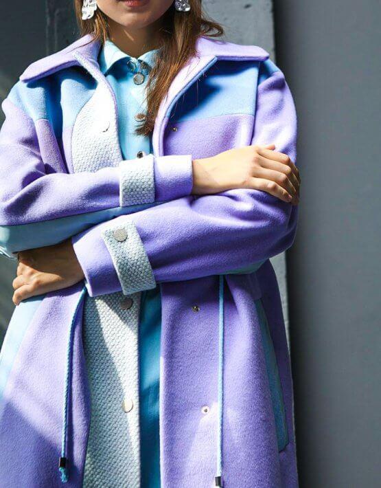 Шерстяное пальто с плащевой тканью TBC_20080w_2204, фото 5 - в интеренет магазине KAPSULA