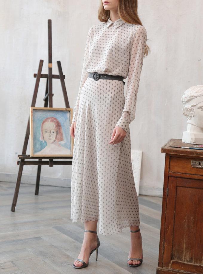 Платье миди в горох VONA_FW-20-21-01, фото 1 - в интеренет магазине KAPSULA