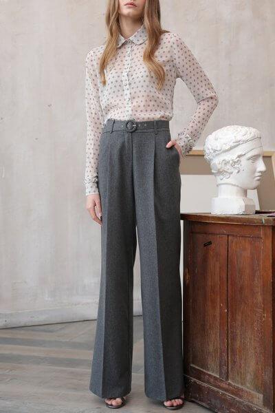 Широкие брюки из шерсти VONA_FW-20-21-04, фото 1 - в интеренет магазине KAPSULA