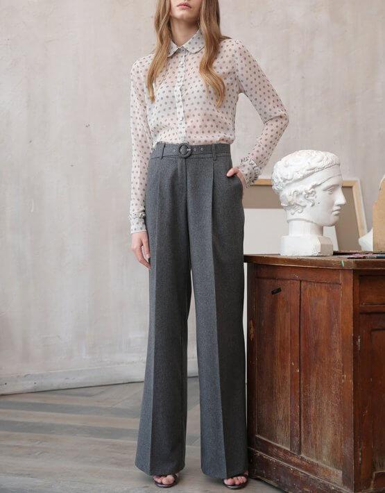 Широкие брюки из шерсти VONA_FW-20-21-04, фото 5 - в интеренет магазине KAPSULA