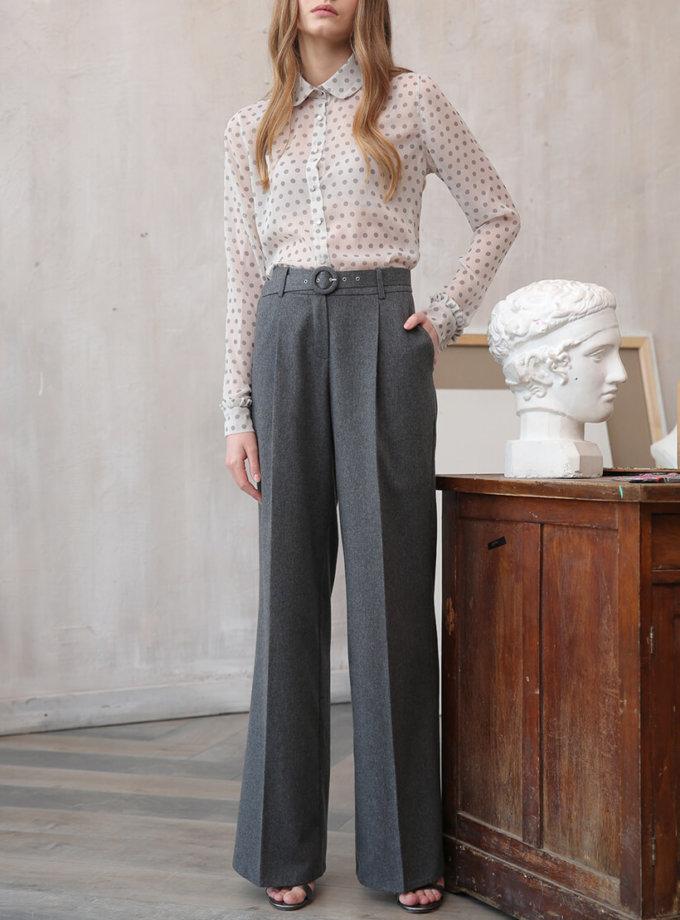 Широкие брюки из шерсти VONA_FW-20-21-04, фото 1 - в интернет магазине KAPSULA