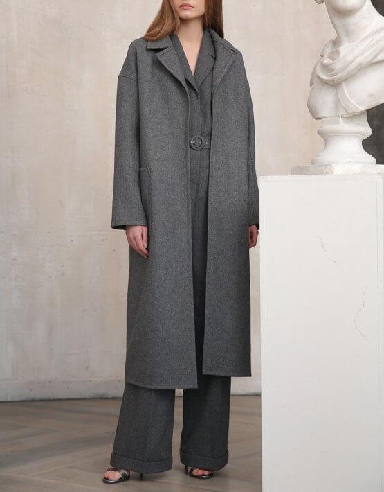 Пальто из шерсти с карманами VONA_FW-20-21-08, фото 4 - в интеренет магазине KAPSULA