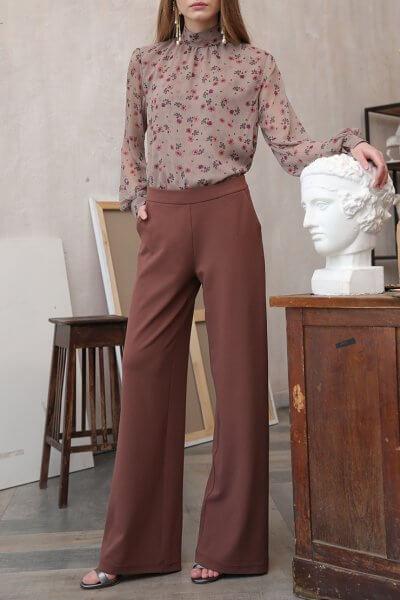 Широкие брюки на поясе-резинке VONA_FW-20-21-11, фото 4 - в интеренет магазине KAPSULA