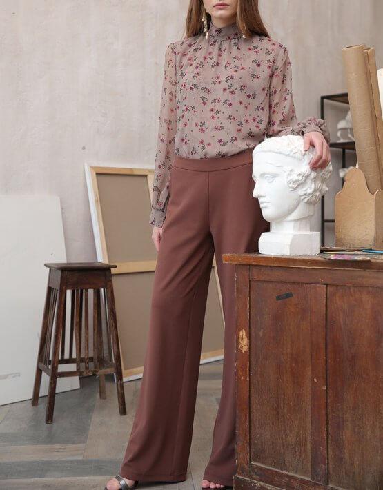 Широкие брюки VONA_FW-20-21-11, фото 3 - в интеренет магазине KAPSULA