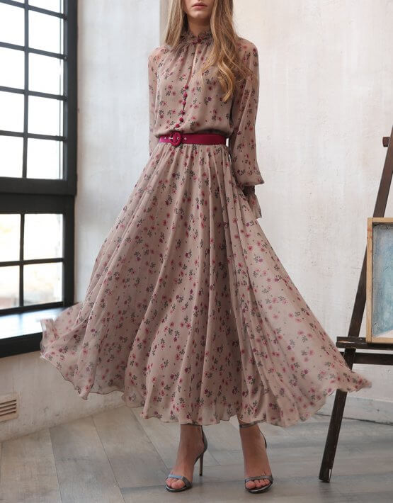 Приталенное платье с поясом VONA_FW-20-21-14, фото 3 - в интеренет магазине KAPSULA