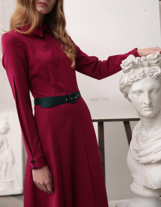 Платье миди А-силуэта VONA_FW-20-21-16, фото 4 - в интеренет магазине KAPSULA