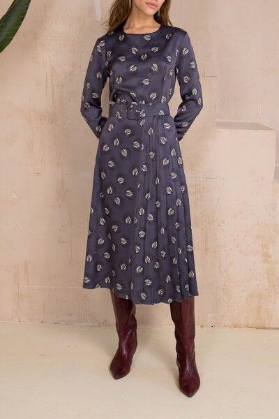 Платье миди с поясом VONA_FW-20-21-33, фото 5 - в интеренет магазине KAPSULA