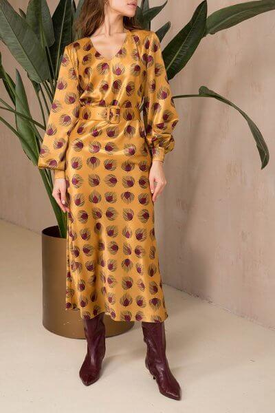 Платье миди с поясом VONA_FW-20-21-34, фото 4 - в интеренет магазине KAPSULA