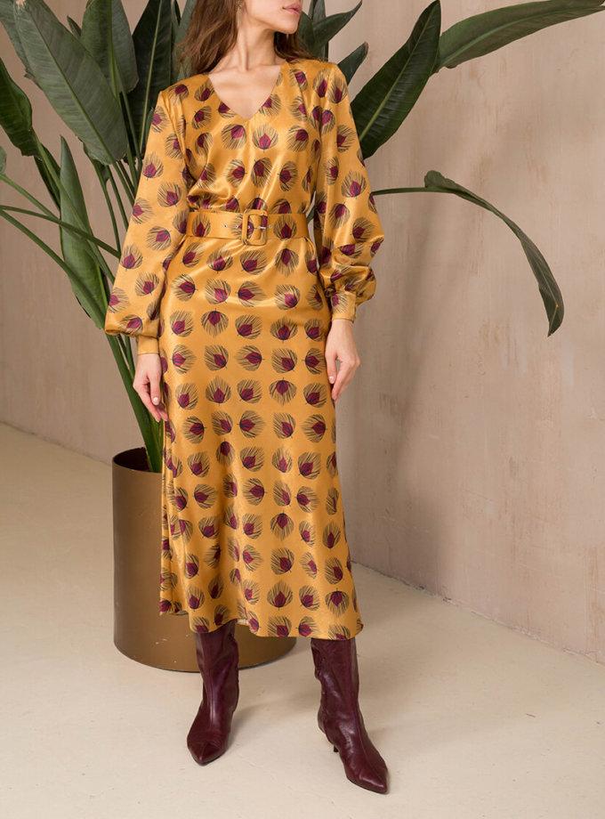 Платье миди с поясом VONA_FW-20-21-34, фото 1 - в интеренет магазине KAPSULA