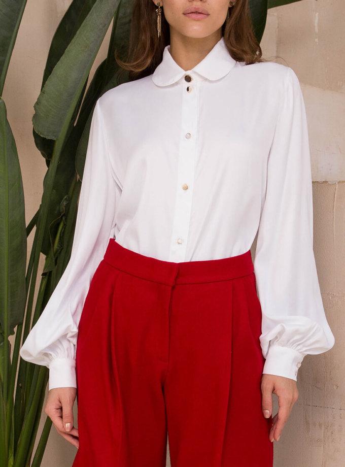 Блуза с разными пуговицами VONA_FW-20-21-39, фото 1 - в интеренет магазине KAPSULA