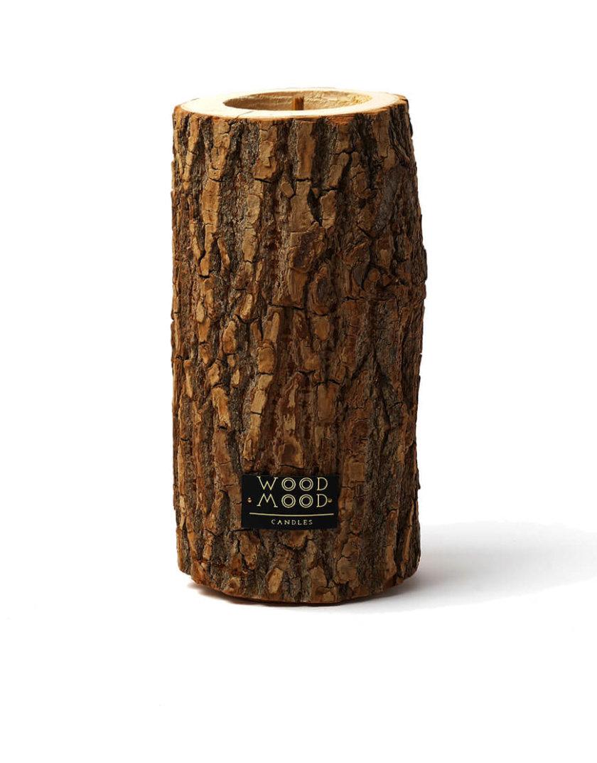 Свеча в дереве с ароматом кедра L WM_rocky_l, фото 1 - в интернет магазине KAPSULA