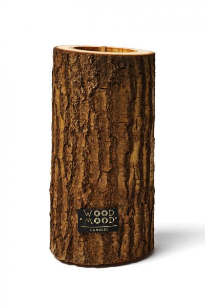 Свеча в дереве с ароматом кедра L WM_rocky_l, фото 4 - в интеренет магазине KAPSULA