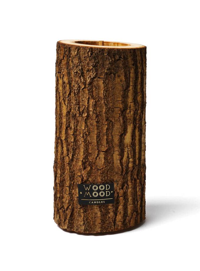 Свеча в дереве с ароматом кедра L WM_rocky_l, фото 1 - в интеренет магазине KAPSULA