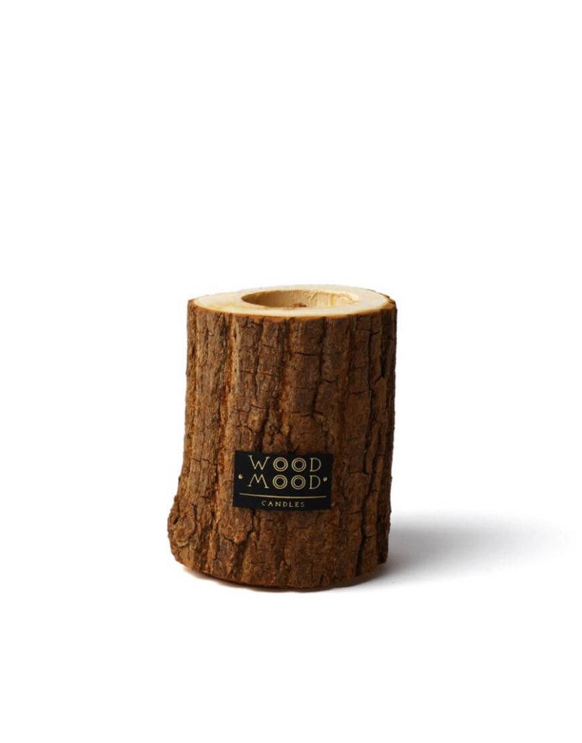 Свеча в дереве с ароматом кедра S WM_rocky_s, фото 1 - в интернет магазине KAPSULA